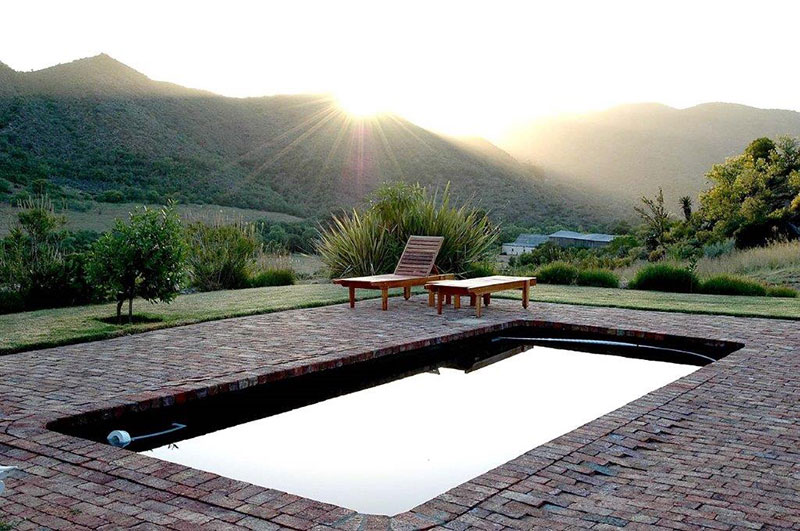 Calitzdorp Accommodation - Swimming Pool with a view